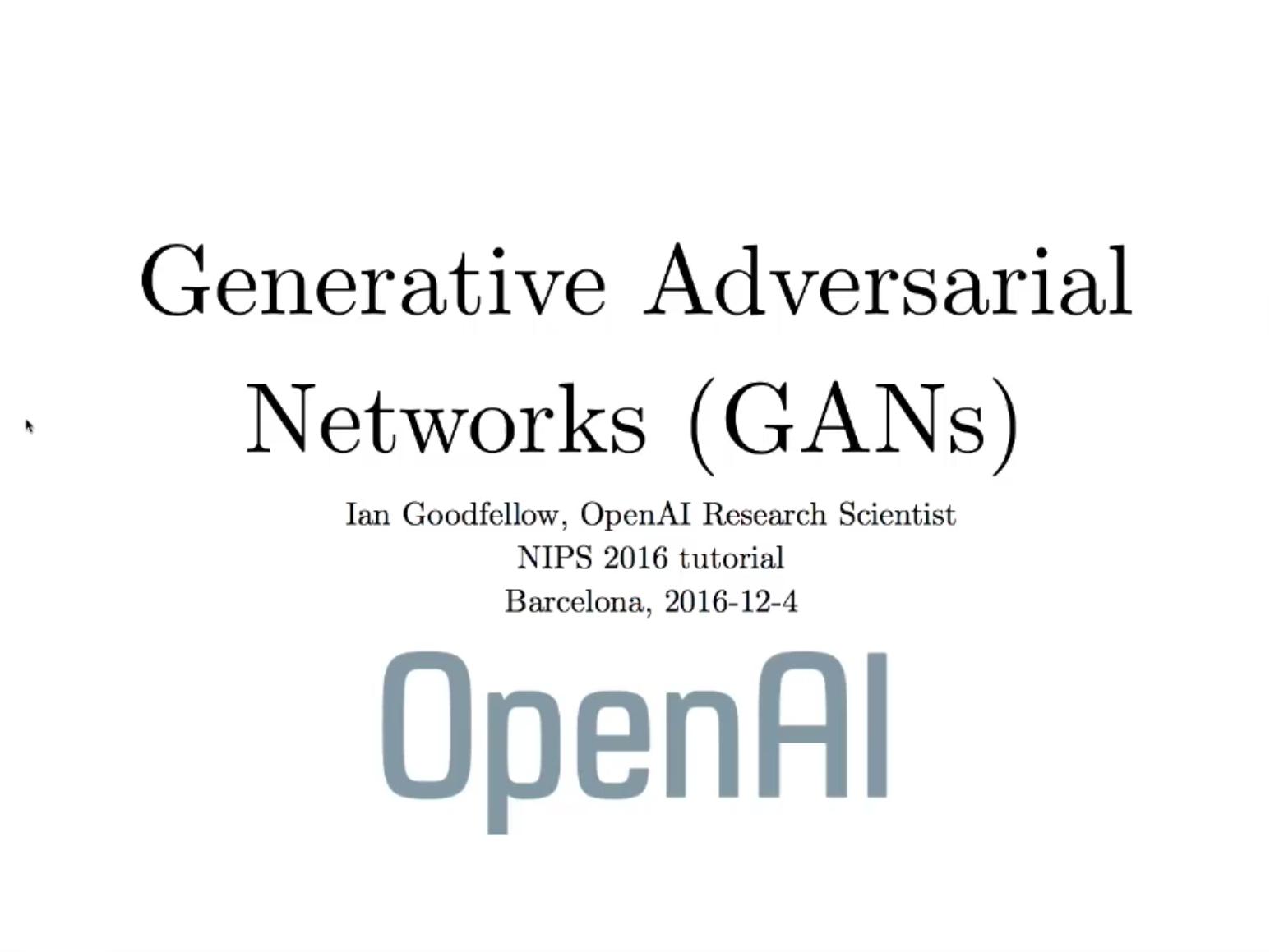 GAN (敵対的生成ネットワーク) ...